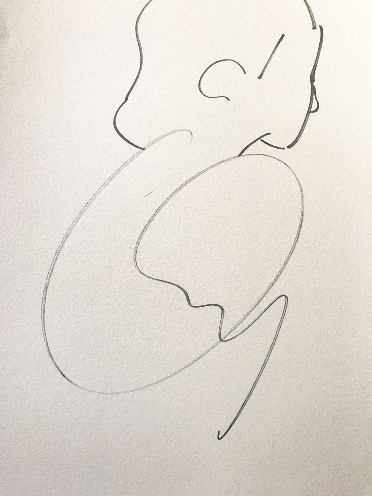 Line Drawing Figure