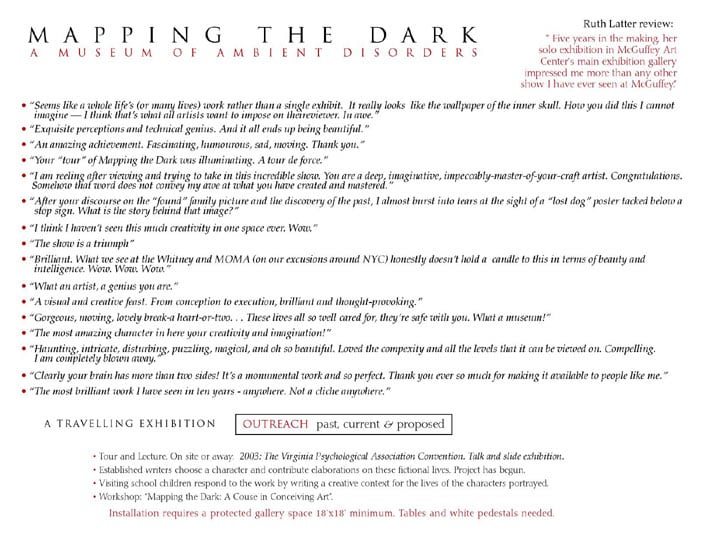 Mapping the Dark 11